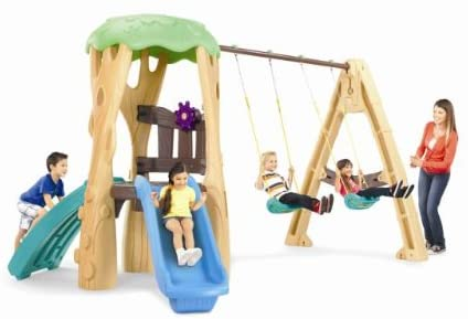 4. Little Tikes Swing Sets with Treehouse