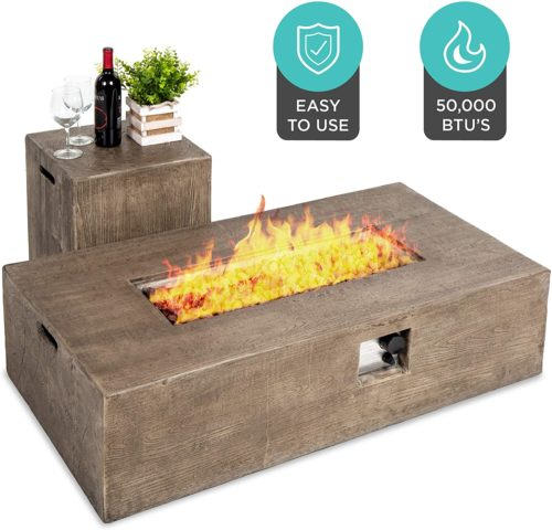 7. Best Choice Products Rustic Outdoor Fireplaces