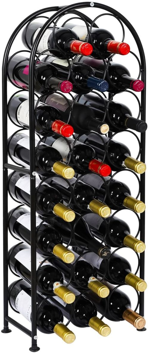 1. PAG Arched Free-Standing Metal Wine Rack