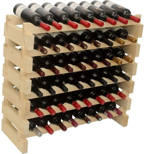 12. DisplayGifts Modular Storage Wine Rack