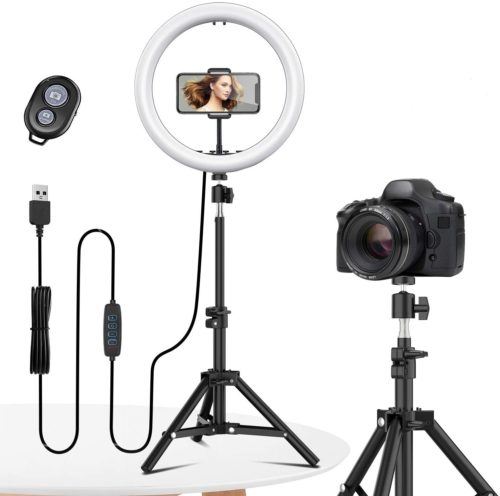 13. EYONMÉ Selfie Ring Light with Tripod Stand