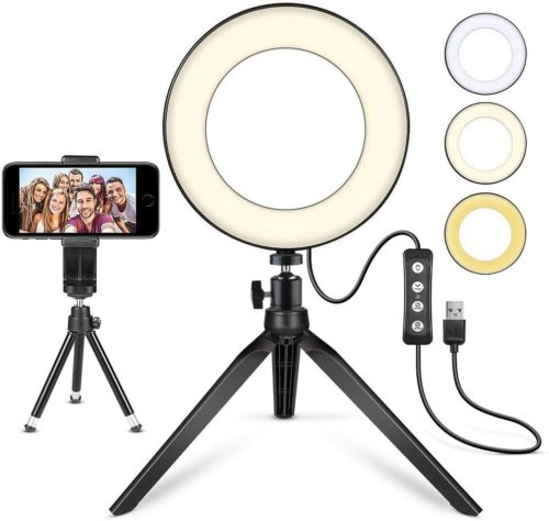 8. MACTREM LED Ring Light with Tripod Stand