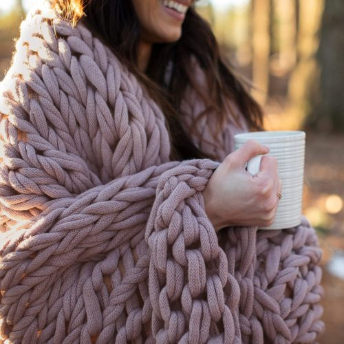 9. Berkshire Chunky Double Knit Throw Blanket