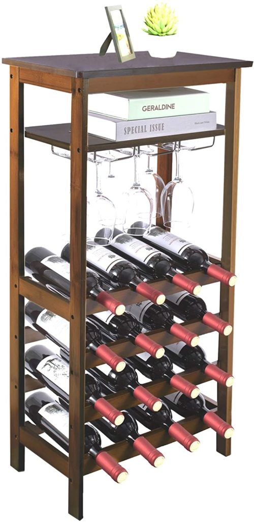 9. URFORESTIC Bamboo Wine Rack