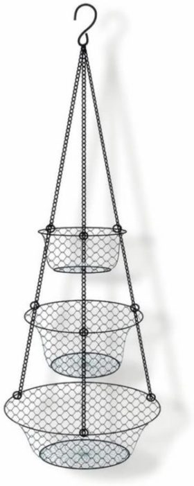 11. Minnows Home 3-Tier Hanging Basket