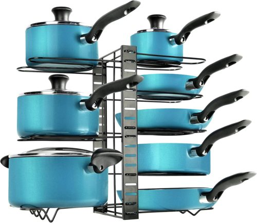 11. Zulay 8-Tier Pots and Pans Organizer