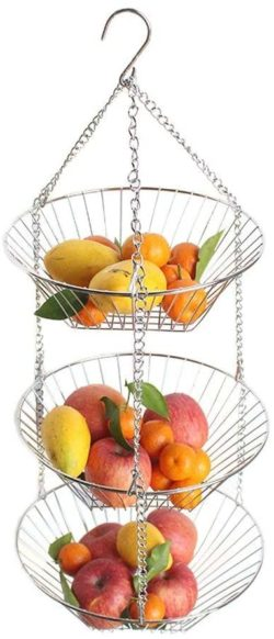 12. Anclle Fruit Racks Hanging Basket