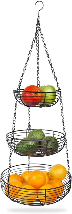 3. Home Intuition 3-Tier Hanging Basket