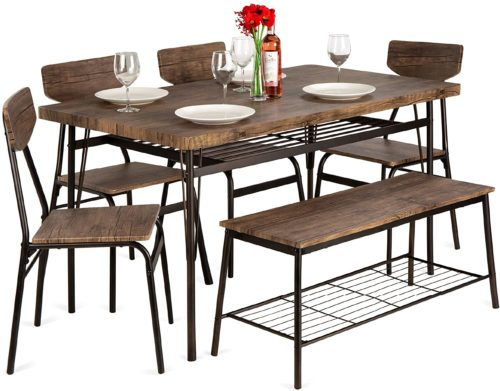 4. Best Choice Products 6-Piece Wooden Dining Set