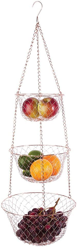 4. Fox Run 3-Tier Kitchen Hanging Fruit Baskets