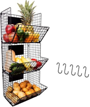 7. Culinary Couture 3-Tier Hanging Wire Basket