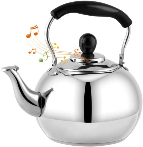 8. DclobTop Stove Top Whistling Tea Kettle