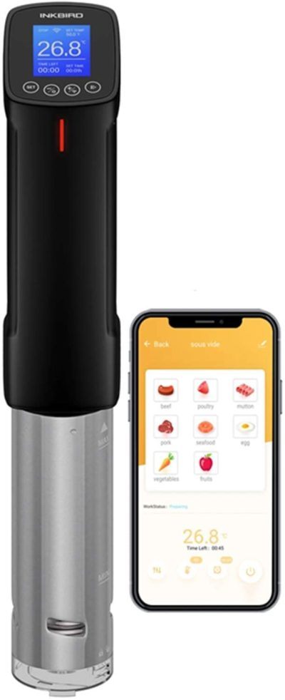 8. Inkbird WIFI Sous Vide Cookers
