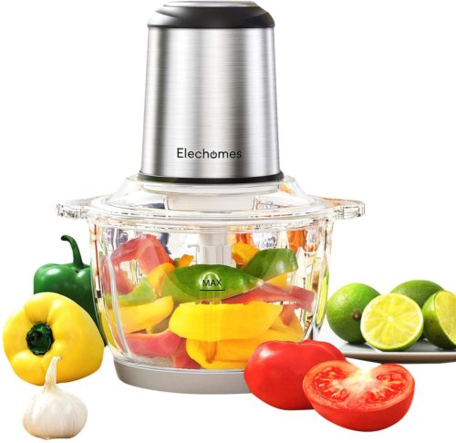 9. Elechomes Electric Food Chopper & Processor