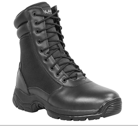 10. LA Police Gear Leather Boots